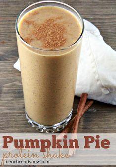 Pumpkin Protein Shake Recipe - a HEALTHY fall indulgence!