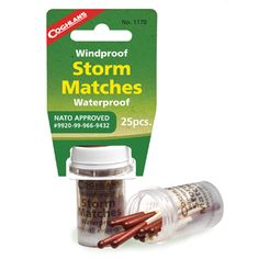 20 Pcs Storm Matches Waterproof Stormproof Coghlans Windproof Survival Emergency for sale online Survival Supplies, Survival Prepping, Emergency Preparedness, Survival Gear, Survival Skills, Survival Quotes, Survival Hacks, Emergency Kits, Survival Shelter