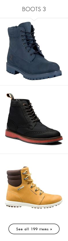 """""""BOOTS 3"""" by paulagriggs ❤ liked on Polyvore featuring men's fashion, men's shoes, men's boots, men's work boots, shoes, male clothes, navy, mens fur lined boots, timberland mens work boots and mens rubber boots"""