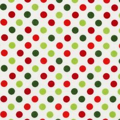 Fun polka dots for your whimsical holiday projects!  Robert Kaufman Polka Dots Spot On Holiday in by FabricWhimsyToo