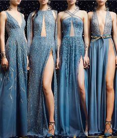 Elegant Dresses For Women, Dressy Dresses, Blue Dresses, Evening Outfits, Evening Dresses, Matric Dance Dresses, Pageant Gowns, Fantasy Dress, Ball Gown Dresses