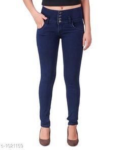 Jeans Trendy Denim Women's Jean  *Fabric* Denim  *Waist Size* 28 in, 30 in, 32 in, 34 in  *Length* Up To 40 in  *Type* Stitched  *Description* It Has 1 Piece Of Women's Jean  *Pattern* Solid  *Sizes Available* 28, 30, 32, 34, 36 *    Catalog Name: Aria Stylish Denim Women's Jeans Vol 1 CatalogID_123213 C79-SC1032 Code: 504-1021159-