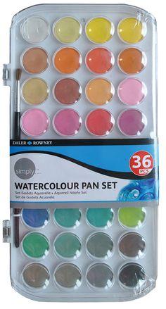 Daler Rowney Simply Watercolor 36 Pans for sale online Watercolor Pans, Watercolor Paint Set, Oil Painting Supplies, Art Supplies, Art Quotes Artists, Wreck This Journal, Cute School Supplies, Pan Set, Craft Organization