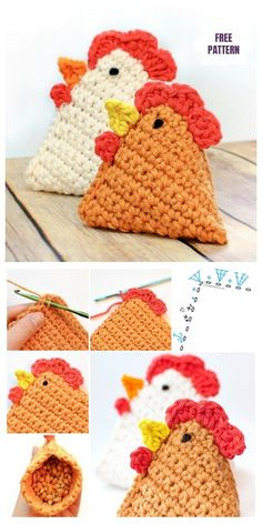DIY Crochet Chicken Bean Bag Free Crochet Pattern