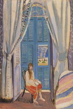 Henri Matisse (Fr. 1869–1954) The Venetian Blinds / Les Persiennes (1919) Oil on canvas (130 × 89 cm)