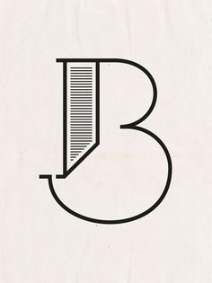The letter 'B', typography
