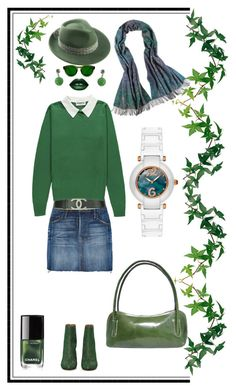 Green invisible doll ;-) by amisha73 on Polyvore featuring moda, Frame, Maison Margiela, Mademoiselle Slassi, LASplash and Chanel