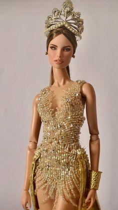 legance with ・・・ Eduarda Beautiful Barbie Dolls, Vintage Barbie Dolls, Barbie Gowns, Barbie Clothes, Fashion Royalty Dolls, Fashion Dolls, Barbie Miss, Barbie Model, Diva Dolls
