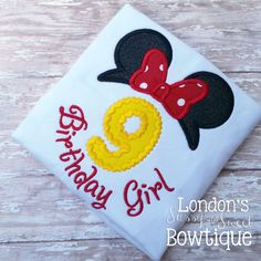 Minnie Mouse Number Appliqué T-shirt Perfect for Birthdays Minnie Mouse, Iron On Patches, Drink Sleeves, Lace Trim, Sunglasses Case, Applique, Birthdays, T Shirt, Delicate