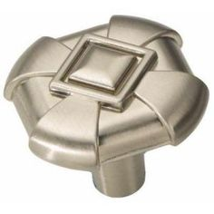 $2.48 Hickory Hardware Chelsea 1 in. Stainless Steel Knob - Model # P3455-SS at The Home Depot