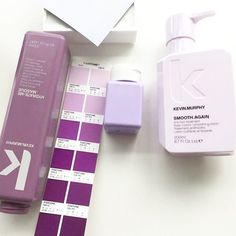 Pretty purples on KEVIN.MURPHY's packaging