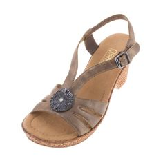 Rieker 66078 91 Womens Ladies ROBERTA Leather Metallic Sandal - £55.00 - Top quality Rieker footwear from Barnets Shoes
