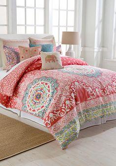 So sweet for a little girls room Jessica Simpson Amrita Medallion Mini Comforter Set