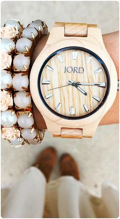 Arm party at all times... | Photo @inspirationindulgence of IG | Watch: Fieldcrest series in Maple, see the full line at woodwatches.com - free shipping worldwide!