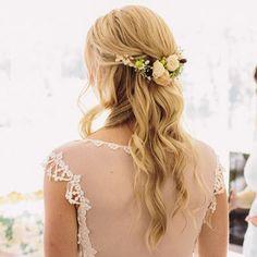 peinado de novia semirecogido natural - Buscar con Google