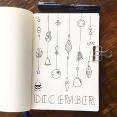 Getting ready for December means getting ready for the new movie! Bullet Journal Stencils, Bullet Journal Ideas Pages, Bullet Journal Inspiration, Journal Pages, Junk Journal, Starwars Christmas, Merry Christmas, Xmas, Christmas Ornaments