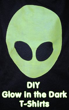 DIY Glow in the Dark Alien Shirts by CrazyLittleProjects.com