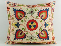 suzani pillow cases hand embroidered msp3-22 - Uzbek-Craft.Com
