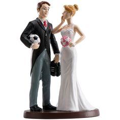 Cake topper torta nuziale Calcio Originale e romantico, darà un tocco in più alle tue nozze.  Resina dipinta. Misure: 18 cm. - MATRIMONIO, Cake Topper, Sport e Hobby -         Simapatico cake topper per gli appassioanti di calcio!        -http://www.dettagliperfetti.com/sport-e-hobby/5298-Cake-topper-torta-nuziale.html -segnaposto, ventagli, matrimonio, sposa, accessori, cake topper, bolle sapone -€ 23.36