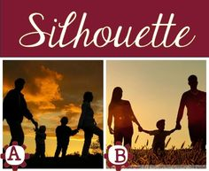 Family Silhouette- I am in love with this idea!  I need a family photo like this while the kids are little!