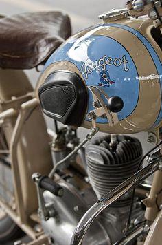 1949 Peugeot GL55 Motorcycle Photograph