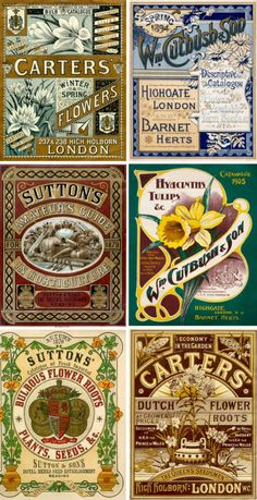 Old plant seed packets