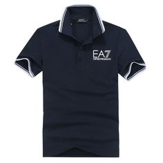 2013 New Emporio Armani Mens Royal Blue Polo T-Shirt - Designer Outlet UK