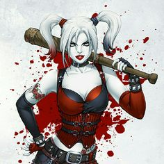 Harley Quinn, villain or not, is my favorite female character in the DC universe. Doctor by day, super villain by night, not to mention she's a babe! Her comic book origin story is why my first daughter will be named Quinn. Joker Und Harley Quinn, Harley Quinn Drawing, Comic Kunst, Comic Art, Dc Comics Art, Comics Girls, Ghost Rider, Comic Book Characters, Female Characters