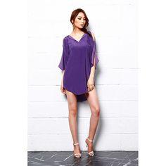 Royal Shine Silk Tunic Dress