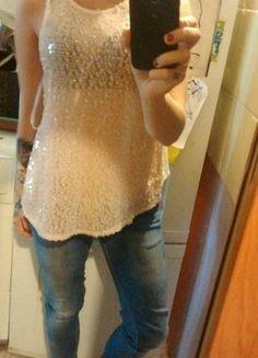Kup mój przedmiot na #vintedpl http://www.vinted.pl/damska-odziez/koszulki-z-krotkim-rekawem-t-shirty/15499512-zwiewna-mgielka-z-cekinami
