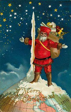 Père Noël Vintage 116, Fonds d'écran gratuits, écran Cool