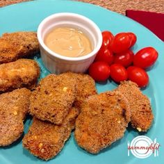 Spicy Chicken Nuggets - my healthy version of Wendy's Spicy Chicken Nuggets. And trust me- this recipe is on point! By With Peanut Butter on Top