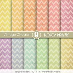 Chevron Digital Paper Old Paper Chevron Digital by blossompaperart