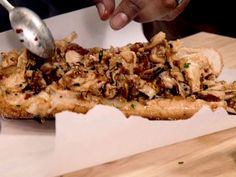 Tangy Chicken Steak recipe from Aaron McCargo Jr. via Food Network Steak Sandwich Recipes, Steak Recipes, Chicken Recipes, Cooking Recipes, Philly Sandwich, Cherry Hand Pies, Chicken Steak, Wrap Sandwiches, Steak Sandwiches