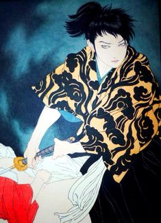Takato Yamamoto (♥️can't get enough of his art♥️) Japanese Art Modern, Japanese Artwork, Japanese Painting, Japanese Prints, Modern Art, Oriental, Yamamoto, Japanese Illustration, Illustration Art