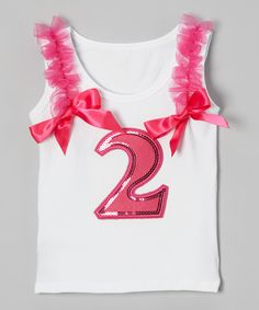 Do --- This Inspiration Group Hot Pink Ribbon Second Birthday Tank - Toddler by Inspiration Group is perfect! #zulilyfinds