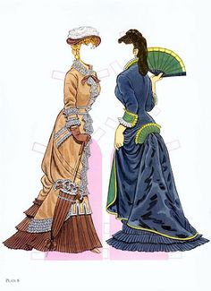 High Victorian Fashions | Gabi's Paper Dolls* For lots of free paper dolls International Paper Doll Society #ArielleGabriel #ArtrA thanks to Pinterest paper doll collectors for sharing *