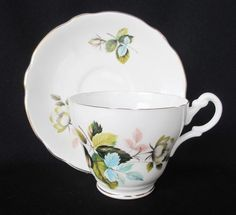Hitkari Bone China Pink Roses Cup And Saucer Made In India