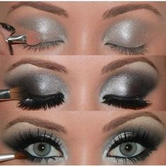 For this smokey grey look, use Younique pigments in Naive, Fiesty, Corrupted and Devious! Don't forget your 3D Fiber Lashes.