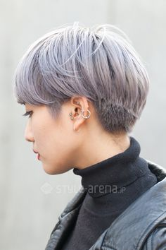 The pixie cut is the new trendy haircut! Put on the front of the stage thanks to Pixie Geldof (hence the name of this cup! Pixie Hairstyles, Pixie Haircut, Asian Short Hairstyles, Shot Hair Styles, Curly Hair Styles, Girl Short Hair, Short Hair Cuts, Asian Haircut, Pelo Pixie