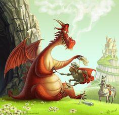 Pinzellades al món: Sant Jordi i el drac: il·lustracions / San Jorge y el dragón: ilustración / Saint George and the dragon: illustration