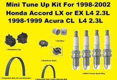 1998-2002 Accord LX or EX L4 2.3L , 98-99 Acura CL L4 2.3L Tune Up Kit Cap Rotor
