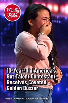People from all over the world audition for America's Got Talent every year. When a 10-year-old girl took the stage in front of the judges, she had everyone in the room breathless. Her performance earned her the coveted golden buzzer. #AmericasGotTalent #SimonCowell #SofiaVergara #Kids America's Got Talent Videos, Howie Mandel, 10 Year Old Girl, Tyra Banks, Simon Cowell, Leap Of Faith, Buzzer, Sofia Vergara, A Star Is Born