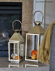 Simple Fall decorating with gold