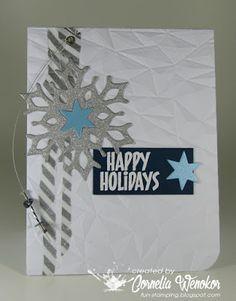 Stempel Spass: Snowflake Christmas Cards