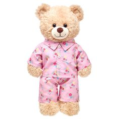 undefined - cosy PJs for those winter nights! I'm thinking of copying the pattern for these so I can make the rest of my BABs some night clothes! Build A Bear Outfits, Teddy Bear Clothes, Kid Picks, Tatty Teddy, Sewing For Kids, Sewing Ideas, Plush, Dolls, Retro