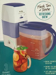 Mr. Coffee Iced Tea Maker 3 Quart with Brew Strength Selector (Blue) -- This is an Amazon Affiliate link. Check out the image by visiting the link.