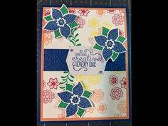 Stampin' Up! Pop of Petals Stamp Set & Four-Petal Flower Punch - YouTube