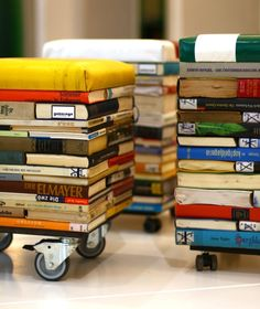 Books Into Stool Recycled Furniture Recycling Paper & Books