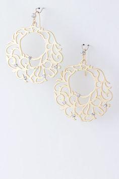 beautiful detail and design Swarovski Crystal Ariella Earrings on Emma Stine Limited VIP